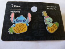 Disney Trading Pins LOUNGEFLY Stitch and Scrump Pineapples