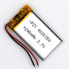 3.7V 240 mAh Li-Polymer 402035 Li Po Battery Rechargeable for GPS Bluetooth MP3