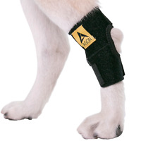 Agon Dog Canine Rear Leg Hock Joint Brace Compression Straps Wrap Protects Wound