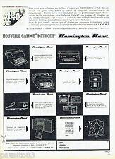 PUBLICITE ADVERTISING 096  1961  Remington Rand machines à écrire
