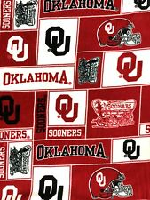 Oklahoma Sooners University Fabrique Innovations Blanket Cover Material 12' x 5'