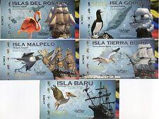 COLOMBIA ISLAS DEL ROSARIO SET 5; 1000 - 20,000 BIRDS in ISLANDS 2014 POLYMER