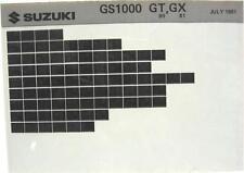 Suzuki GS1000 GS1000G 1980 1981 Parts Catalog Microfiche s427