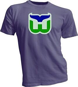 Hartford Whalers Defunct NHL Hockey Tee T-Shirt Men's Handmade New England Sport