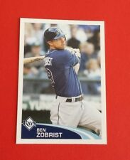 2012 Topps Baseball Ben Zobrist Sticker #32***Tampa Bay Rays***