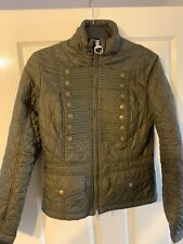 BARBOUR INTERNATIONAL BRIGADE MILITARY STYLE  UNION JACK JACKET Size 10 Green