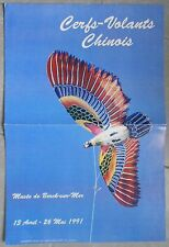Affiche CERFS-VOLANTS CHINOIS Musée de Berck-sur-Mer 1991