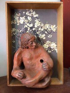 Original Claire Pierpoint (Swiss/American) Mixed Medium Sculpture, c. 2000