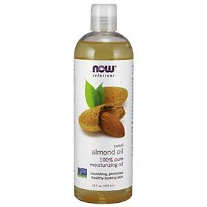 NOW Solutions Sweet Almond Oil 100% Pure Moisturizing Oil Promotes Healthy-Lo...