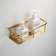 Brushed Gold Rectangle Shelves Single Layer Stainless Steel Storage Shower Caddy