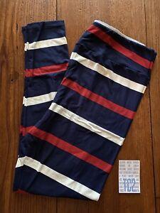 NEW RELEASE Lularoe Leggings Size TC2 Beautiful Striped Amazing Print New