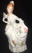Vintage Victorian Lady Wall Vase Planter Japan Floral Design