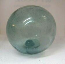 Vintage Japanese Glass Fishing Lt Float Aqua