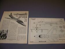 """VINTAGE..HAWKER HUNTER """"2-SEATER""""..3-VIEWS/CROSS SECTIONS/DETAILS...RARE! (145K)"""