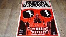 FRISSONS D'HORREUR ! affiche cinema horreur 1974