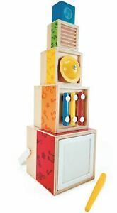 Hape STACKING MUSIC SET Pre-School Young Children Sensory Toy Game BN