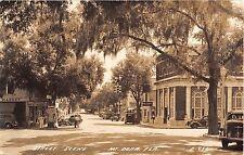 1941 RPPC First National Bank Stores Main? St. Mt. Dora FL