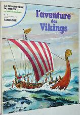 LAROUSSE DECOUVERTE MONDE BANDES DESSINEES N°2 1978 EO L'AVENTURE DES VIKINGS