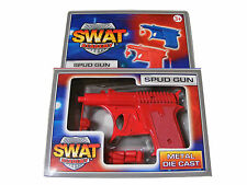 CHILDRENS KIDS RED DIE CAST METAL SWAT ACADEMY POTATO / SPUD GUN TOY  - NEW