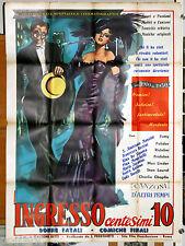 manifesto 2F originale INGRESSO CENTESIMI 10 Emilio Ghione Lyda Borelli 1955