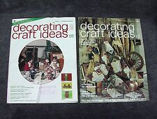 DECORATING & CRAFT IDEAS Magazine December 1974 October 1975 Vol. 5 6 No. 3 1