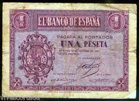 1 Peseta 1937 Burgos 12 de octubre @ Bello @
