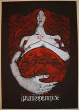 2008 Gravetemple - Birmingham Silkscreen Concert Poster s/n by Malleus