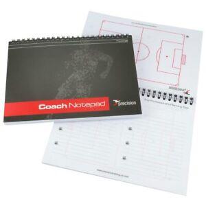 Precision A5 Football Coach Notepad Managers Tactics Book