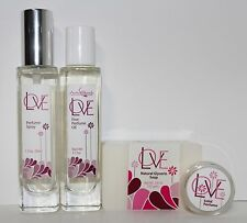 Auric Blends LOT of LOVE Perfume Spray + Fine Perfume Oil + Solid + Soap BUNDLE