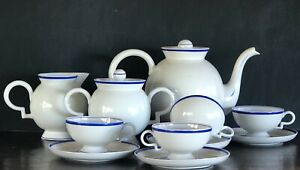 Gio Ponti for Richard Ginori Barbara Tea Set Italian Porcelain Service Antique