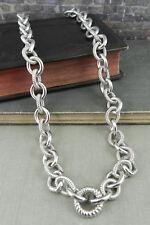 "Judith Ripka Heavy Sterling Silver Rolo Link 20"" Chain"