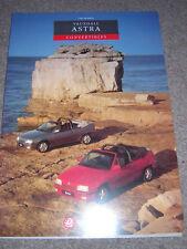 ORIGINAL VAUXHALL ASTRA CONVERTIBLE 1993 SALES BROCHURE