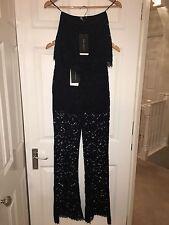 Zara Navy Lace Bandeau Top & Trouser Co-Ordinates