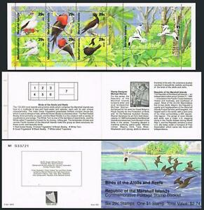 Marshall 400-406a booklet,MNH.Michel 363-369 MH. Birds 1991.Booby,Frigate,Tern