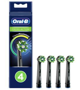 Braun Oral-B CrossAction Improved Clean Maximiser Black Toothbrush Head 4 Pack