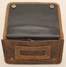 Quality Full Grain Cow Hide Nubuck Vintage Leather Tobacco Pouch. Style:12033.