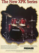 1997 Print Ad of Premier XPK Series Drum Kit w Matching Wood Snare