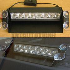 8 LED luz de Flash estroboscópico Amarillo 12V Coche Faro recuperación de advertencia de emergencia