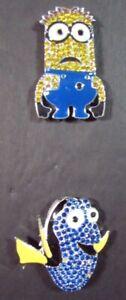 9x Needlecraft Supplies  Rhinestone Magnets: Minion/Dory/Animals/Birds-DN6