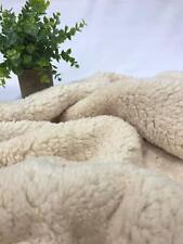 "2 Metres Cream Sherpa Fleece Fluffy Borg Faux Fur Fabric 60"""