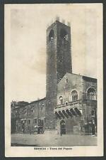 Brescia : Torre del Popolo - viaggiata nel 1929 per Oleggio ( Novara)