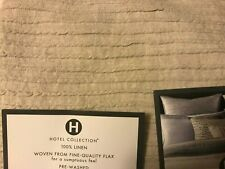 Hotel Collection Linen Stripe Quilted EURO Pillow Sham Beige 26 x26