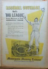 1956 full page newspaper ad for Minneapolis Millers baseball Big League coverage