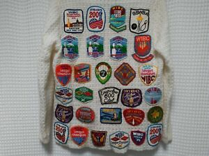 vtg Bowling Patch Sweater 60s 70s WIBC league Bowler cardigan 600 club 1976 200