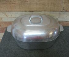 """Vintage ONEIDA Aluminum Turkey Roaster 15"""" w/ Lid - Large Roasting Pan"""