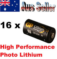 16x GP CR123A NETGEAR Arlo Photo Flashlight CR123A Lithium Batteries 3V DL123 A