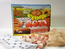 LOTO Super Lotto Popular Old Game Bingo Wooden Barrels Ukraine СУПЕР ЛОТО