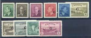 Canada SG0178/0189 Mounted Mint