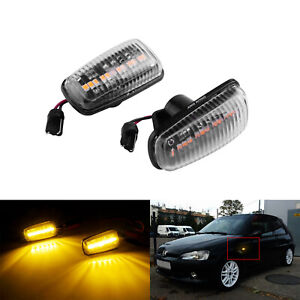 Clear Side Indicator LED Repeater Light For Peugeot 106 306 406 806 Expert Fiat