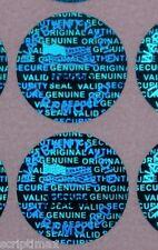Blue-10000 serial # 0.50 inch 13mm TAMPER EVIDENT SECURITY VOID HOLOGRAM LABELS